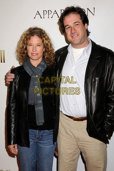 "NANCY TRAVIS & ROB FRIED.""The Boondock Saints II: All Saints Day"" Los Angeles Premiere held at Arclight Cinemas, Hollywood, California, USA..October 28th, 2009.half length leather jacket black grey gray scarf blue shirt married husband wife .CAP/ADM/BP.©Byron Purvis/AdMedia/Capital Pictures."
