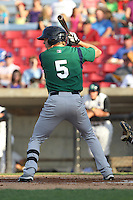 Beloit Snappers outfielder Drew Leachman #5 bats during a game against the Kane County Cougars at Fifth Third Bank Ballpark on June 26, 2012 in Geneva, Illinois. Beloit defeated Kane County 8-0. (Brace Hemmelgarn/Four Seam Images)