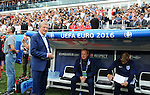 England Football Coach Roy Hodgson at the Stade Bollaert-Delelis in Lens, France this afternoon during their Euro 2016 Group B fixture against Wales.