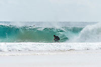 Coolangatta, Queensland Australia. (Friday September 25, 2015) Dean Morrison (AUS) –  A strong South swell was running today on the back of a very strong South wind. The swell was hitting D-Bah and TOS and was smaller on the points. Snapper Rocks was working on the mid tides but was very crowded. Photo: joliphotos.com