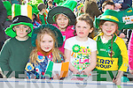 Jamie O'Donoghue, Sarah O'Donoghue, Rebecca O'Sullivan, Alicia Heaps and Nicole Cronin who from Barradubh NS who marched in the Killarney St Patrick's day parade on Saturday..