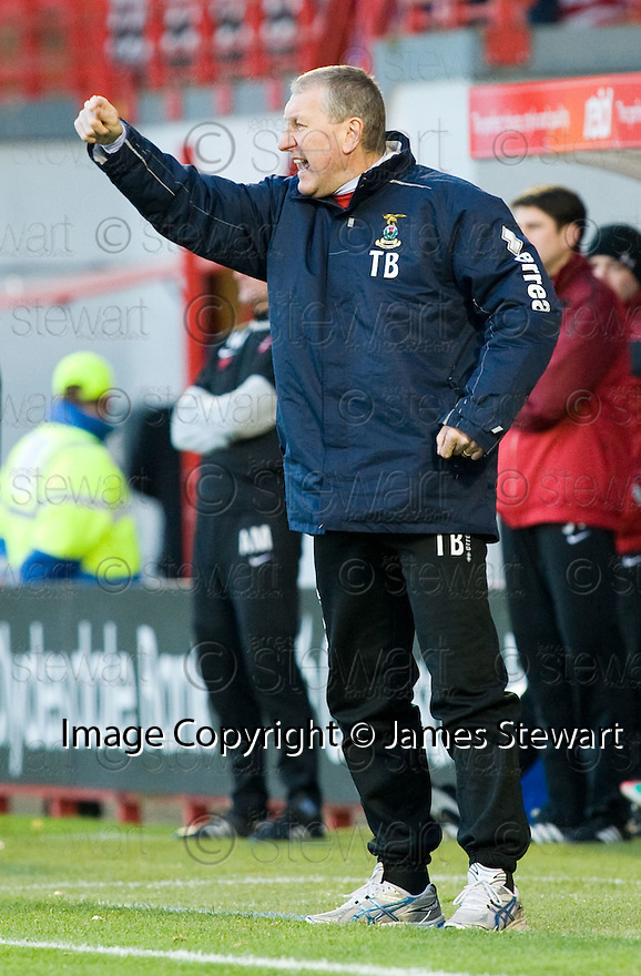 13/11/2010   Copyright  Pic : James Stewart.sct_jspa025_hamilton_v_ict  .::  CALEY MANAGER TERRY BUTCHER ::.James Stewart Photography 19 Carronlea Drive, Falkirk. FK2 8DN      Vat Reg No. 607 6932 25.Telephone      : +44 (0)1324 570291 .Mobile              : +44 (0)7721 416997.E-mail  :  jim@jspa.co.uk.If you require further information then contact Jim Stewart on any of the numbers above.........