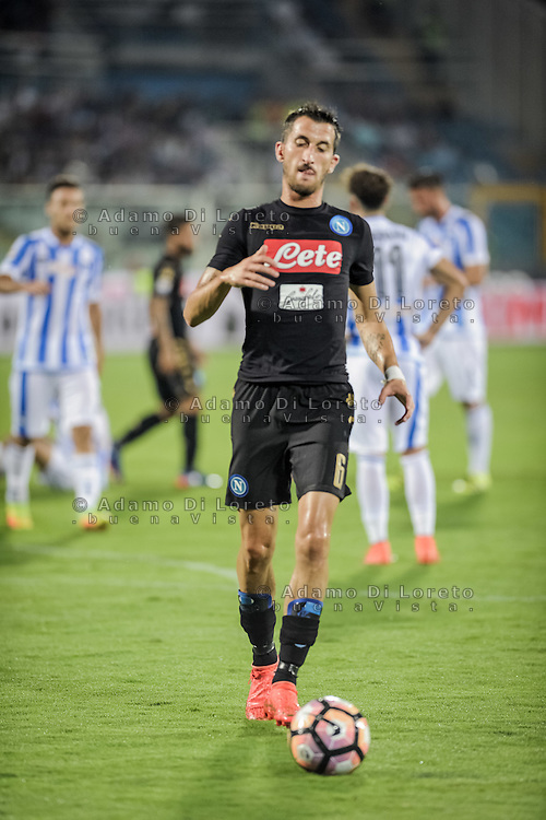 Valdifiori Mirko (Napoli) during the Italian Serie A football match Pescara vs SSC Napoli on August 21, 2016, in Pescara, Italy. Photo by Adamo Di Loreto