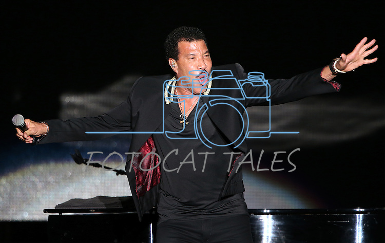 Lionel Richie performs at Harveys Lake Tahoe Outdoor Arena in Stateline, Nev., on Saturday, Aug. 13, 2016.  <br /> Photo by Cathleen Allison