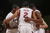 STANFORD, CA - JANUARY 9:  Landry Fields of the Stanford Cardinal in a huddle during Stanford's 70-59 win over the UCLA Bruins on January 9, 2009 at Maples Pavilion in Stanford, California.