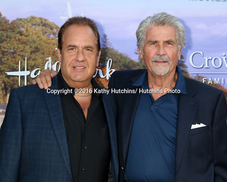 LOS ANGELES - JUL 27:  Scott Hart, James Brolin at the Hallmark Summer 2016 TCA Press Tour Event at the Private Estate on July 27, 2016 in Beverly Hills, CA
