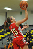 Cara McCormack #15 of St. John the Baptist drives for two points during a non-league varsity girls basketball game against Wantagh at Baldwin High School on Monday, Dec. 26, 2016. Baptist won by a score 57-47.