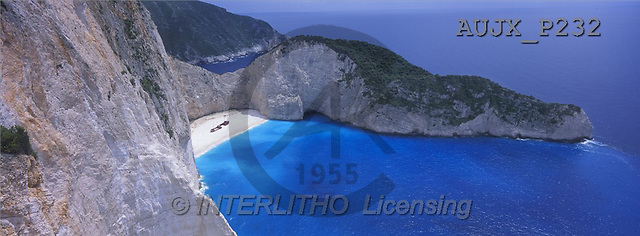 Dr. Xiong, LANDSCAPES, panoramic, photos, Shipwreck Beach, Zakynthos, Greece(AUJXP232,#L#)