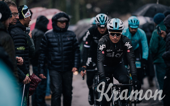 defending champion Michal Kwiatkowski (POL/SKY) to the start<br /> <br /> 12th Strade Bianche 2018<br /> Siena > Siena: 184km (ITALY)