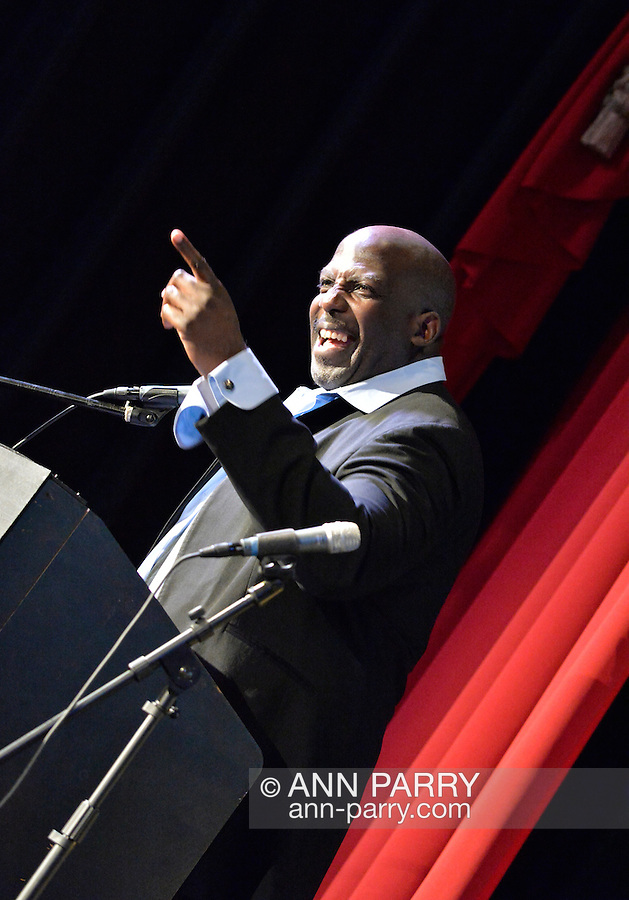 Bellmore, New York, USA. July 21, 2016. Actor KEVIN BROWN (Dot Com in 30 Rock) is again host at the 19th Annual Long Island International Film Expo Awards Ceremony, LIIFE 2016, held at the historic Bellmore Movies. LIIFE was called one of the 25 Coolest Film Festivals in the World by MovieMaker Magazine.