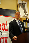 "Arne Duncan, the Chief Executive Officer of the Chicago Public Schools, CPS, speaks at a press conference for Mayor Daley's ""Principal for a Day"" program of corporate sponsorship and volunteerism in the Chicago Public Schools at Talcott Elementary School, 1840 W. Ohio St., in Chicago, Illinois on October 17, 2008."