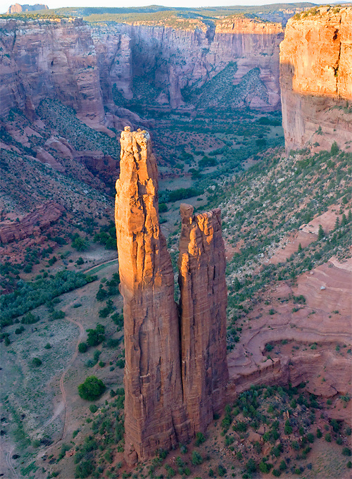 Spider rock in Canyon de Chelly National Park, AZ.