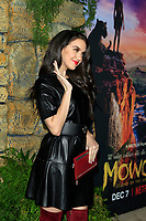 "LOS ANGELES - NOV 28:  Lilimar Hernandez at the ""Mowgli: Legend of the Jungle"" Premiere at the ArcLight Theater on November 28, 2018 in Los Angeles, CA"