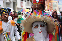 PASTO- COLOMBIA, 4-01-2018:Llegada y desfile de la familia Castañeda durante el Carnaval de Blancos Y Negros./ Arrival and parade of the Castañeda family during the Blancos and Negros Carnival.Photo: Vizzorimage / Leonardo Castro  / Contribuidor