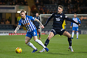 6th February 2019, Dens Park, Dundee, Scotland; Ladbrokes Premiership football, Dundee versus Kilmarnock; Alan Power of Kilmarnock challenges for the ball with Andreas Hadenius of Dundee