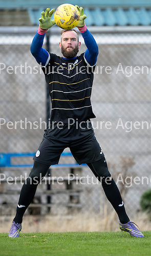 St Johnstone Training…..21.10.16<br />Keeper Alan Mannus pictured during training ahead of Sunday's game against local rivals Dundee<br />Picture by Graeme Hart.<br />Copyright Perthshire Picture Agency<br />Tel: 01738 623350  Mobile: 07990 594431