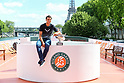 Tennis : Rafael Nadal winner of French Open Tennis 2017 photocall by Eiffel Tower