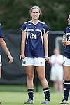 28 September 2014: Notre Dame's Katie Naughton. The Wake Forest University Demon Deacons hosted the Notre Dame University Fighting Irish at W. Dennie Spry Soccer Stadium in Winston-Salem, North Carolina in a 2014 NCAA Division I Women's Soccer match.