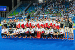 Belgium team after the Men's hockey medal ceremony at the Rio 2016 Olympics at the Olympic Hockey Centre in Rio de Janeiro, Brazil.
