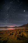 Stars shine bright over Altiplano, Bolivia