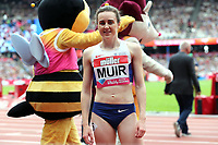 Laura Muir of Great Britain after competing in the womenís one mile during the Muller Anniversary Games at The London Stadium on 9th July 2017