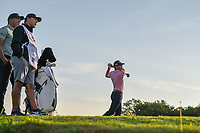 Billy Horschel (USA) watches his tee shot on 11 during day 2 of the Valero Texas Open, at the TPC San Antonio Oaks Course, San Antonio, Texas, USA. 4/5/2019.<br /> Picture: Golffile | Ken Murray<br /> <br /> <br /> All photo usage must carry mandatory copyright credit (© Golffile | Ken Murray)
