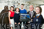 Mayor Of Kerry, Pat McCarthy who launched the Presentation Secondary School, Castleisland website on Thursday 2nd of June with Abbie Blennerhassett, Back Principal Katherina Broderick, Laura Daly and Pierse Dargan, Business and IT Teacher