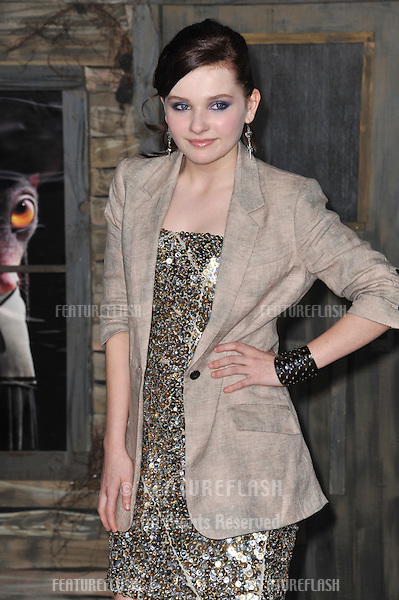 "Abigail Breslin at the Los Angeles premiere of her new animated movie ""Rango"" at the Regency Village Theatre, Westwood..February 14, 2011  Los Angeles, CA.Picture: Paul Smith / Featureflash"