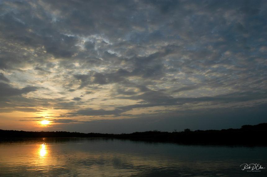 Sunrise on Victoria Nile in Murcheson Falls National Park in northwestern Uganda. (Rick D'Elia)