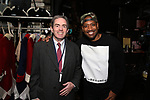 James Basker, President of the Gilder Lehrman Institute with Bryan Terrell Clark during their #EduHam photo shoot on January 31, 2018 at the Richard Rodgers Theatre in New York City.