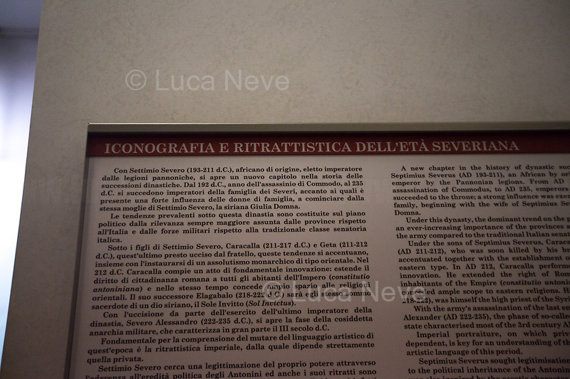 Emperor Settimio Severo: African's origin. <br />