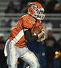 Anthony Denicola #2 of Carey rushes for a gain during the Nassau County football Conference II semifinals against MacArthur at Shuart Stadium, located on the campus of Hofstra University in Hempstead, on Thursday, Nov. 8, 2018.