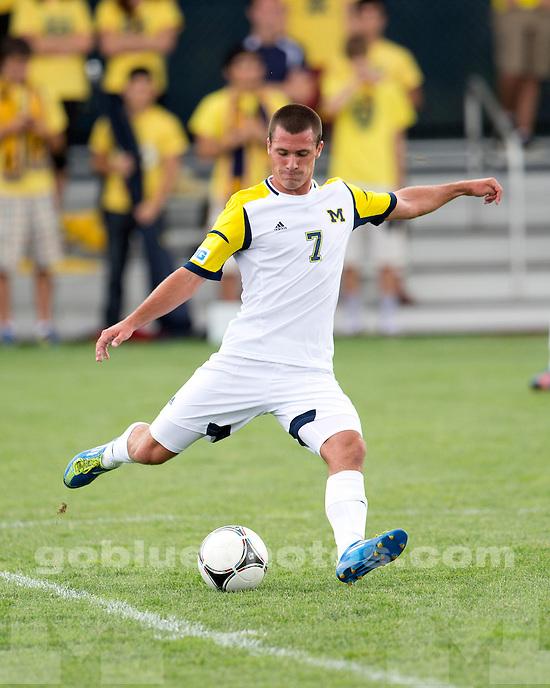 The University of Michigan men's soccer team beat Northeastern, 4-1, at the U-M Soccer Stadium in Ann Arbor, Mich., on September 9, 2012.