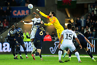 Andre Ayew of Swansea City vies for possession with Samuel Şahin-Radlinger of Barnsley during the Sky Bet Championship match between Swansea City and Barnsley at the Liberty Stadium in Swansea, Wales, UK. Sunday 29 December 2019