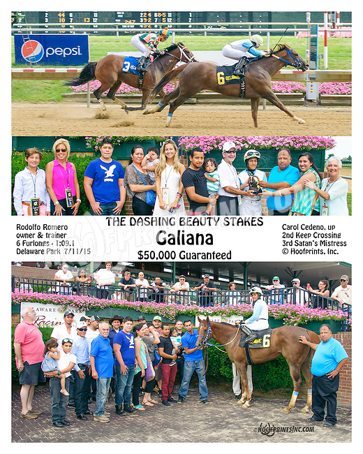 Galiana winning The Dashing Beauty Stakes at Delaware Park on 7/11/15
