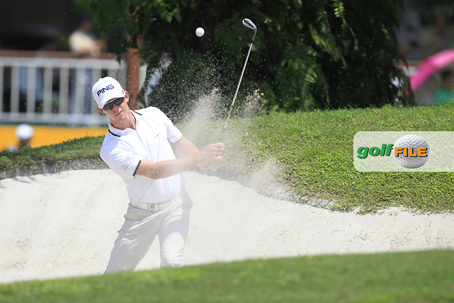 Brandon Stone (RSA) in action on the 2nd during Round 1 of the Maybank Championship at the Saujana Golf and Country Club in Kuala Lumpur on Thursday 1st February 2018.<br /> Picture:  Thos Caffrey / www.golffile.ie<br /> <br /> All photo usage must carry mandatory copyright credit (© Golffile   Thos Caffrey)