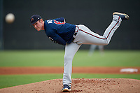 Atlanta Braves Joey Wentz (63) during a Minor League Spring Training game against the New York Yankees on March 12, 2019 at New York Yankees Minor League Complex in Tampa, Florida.  (Mike Janes/Four Seam Images)