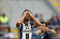 Calcio, Serie A: Inter vs Juventus. Milano, stadio San Siro, 18 settembre 2016.<br /> Juventus' Sami Khedira reacts during the Italian Serie A football match between FC Inter and Juventus at Milan's San Siro stadium, 18 September 2016.<br /> UPDATE IMAGES PRESS/Isabella Bonotto
