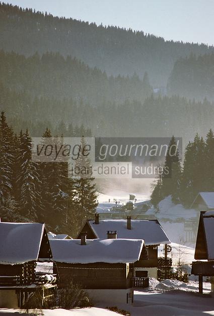 Europe/France/Franche Comté/39 /Jura/Prémanon Les Rousses: Chalets // France, Jura, Les Rousses, chalets