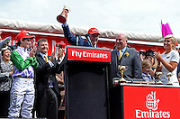 Winning Trainer of PRINCE OF PENZANCE, Darren Weir with his Cup<br /> VRC Spring Racing Carnival <br /> 155th Melbourne Cup / Race 7<br /> Flemington Racecourse / Melbourne <br /> Australia  Tuesday3rd November 2015<br /> &copy; Sport the library / Courtney Crow