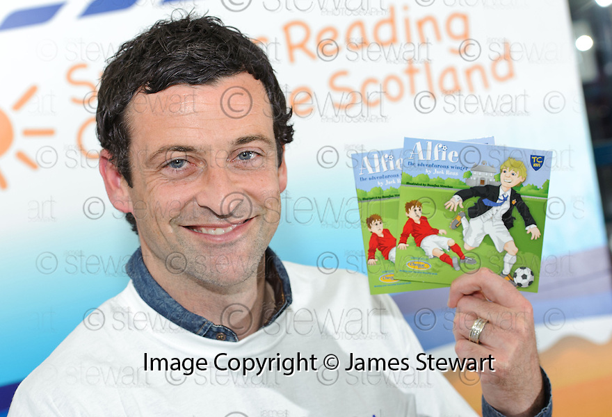 """Former footballer Jack Ross kicks off his career as a children's author with the launch of his new book """" Alfie  The Adventurous Winger """" ...."""