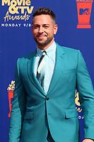LOS ANGELES - JUN 15:  Zachary Levi at the 2019 MTV Movie & TV Awards at the Barker Hanger on June 15, 2019 in Santa Monica, CA