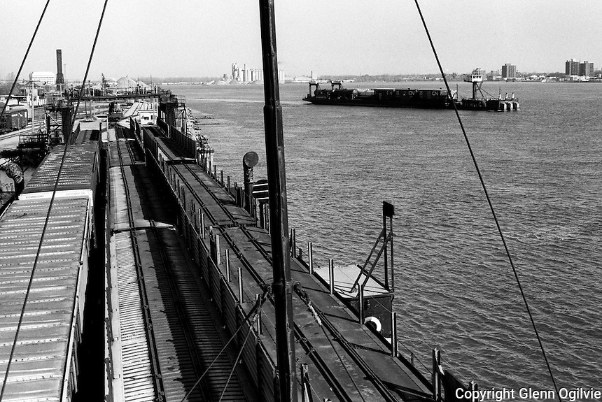 CN Ferry which transported railway cars too large to fit in the CN Tunnel between Port Huron Michigan and Sarnia.