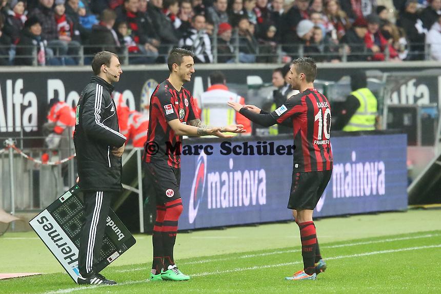 Joselu kommt für Vaclav Kadlec (Frankfurt) - Eintracht Frankfurt vs. Eintracht Braunschweig, Commerzbank Arena