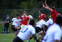 Action from the rugby match between New Zealand Schools Barbarians and Fiji Schools at Jerry Collins Stadium in Porirua, Wellington, New Zealand on Monday, 1 October 2018. Photo: Dave Lintott / lintottphoto.co.nz