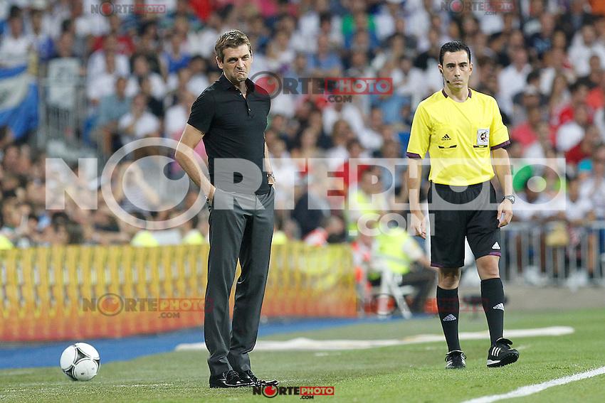 F.C. Barcelona's Tito Vilanova during Spanish Supercup 2nd match on august 29 2012...Photo: Alex Cid-Fuentes / ALFAQUI /NortePhoto.com<br /> <br /> **CREDITO*OBLIGATORIO** <br /> *No*Venta*A*Terceros*<br /> *No*Sale*So*third*<br /> *** No*Se*Permite*Hacer*Archivo**<br /> *No*Sale*So*third*