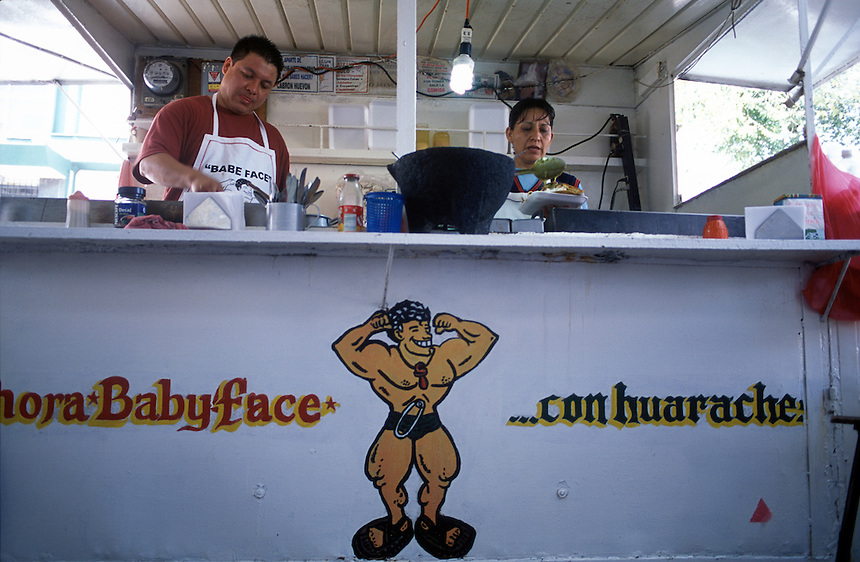 A favorite street eatery for luchadores, especially japanese luchadores.  Arroz japones, Baby Face, Arena Mexico, Mexico City 11-06