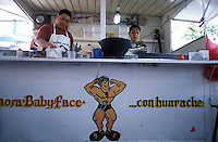 A favorite street eatery for luchadores, especially japanese luchadores.  Arroz japones, Baby Face, Arena Mexico, Mexico City 11-06