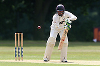 S Imtiaz in batting action for Ilford during Wanstead and Snaresbrook CC vs Ilford CC, Shepherd Neame Essex League Cricket at Overton Drive on 17th June 2017