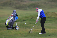 Alex MaGuire (Laytown &amp; Bettystown) on the 12th fairway during Round 2 of the Ulster Boys Championship at Portrush Golf Club, Portrush, Co. Antrim on the Valley course on Wednesday 31st Oct 2018.<br /> Picture:  Thos Caffrey / www.golffile.ie<br /> <br /> All photo usage must carry mandatory copyright credit (&copy; Golffile | Thos Caffrey)